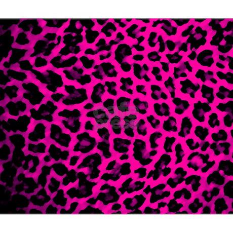 Hot Pink Leopard Print Mousepad by brattigrl