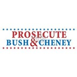 Prosecute Bush&Cheney Water Bottle