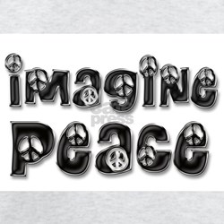 Imagine Peace T-Shirt (b&w-satin)