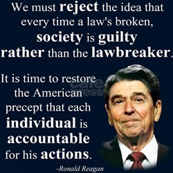 Reagan Quote - Individual Accountable T