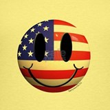 American flag smiley face Tank Tops