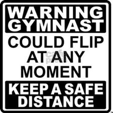 Warning Gymnast Flip Stainless Water Bottle 1.0L