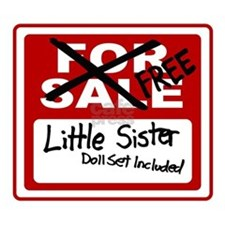 Little Sister For Sale Sign Mug