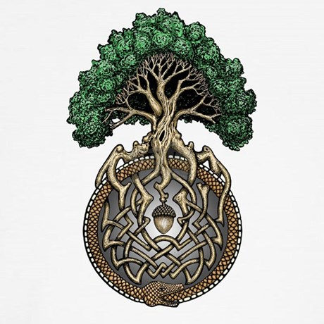 Ouroboros Tree Baseball Jersey By Thedigitalcelt