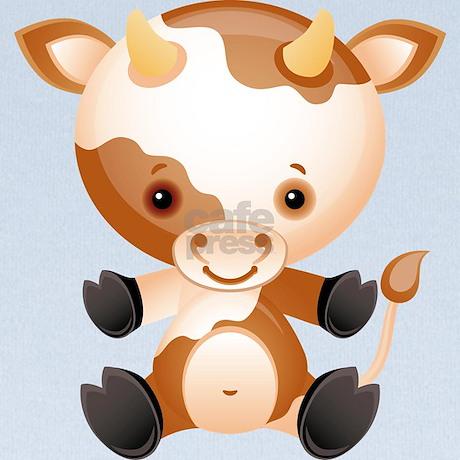 Cute Kawaii Cartoon Cow Ox Baby Blanket By Auslandgifts