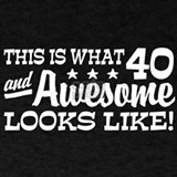 40 and awesome T-shirts