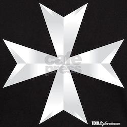 Maltese Cross Black T-Shirt