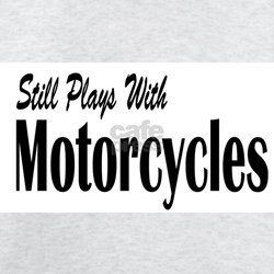 Plays With Motorcycles Ash Grey T-Shirt