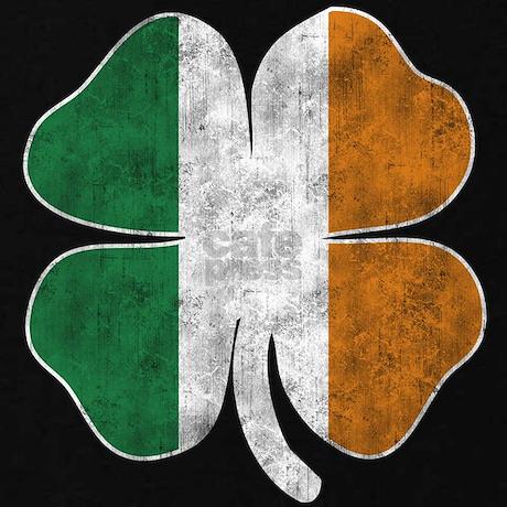 Irish Flag Shamrock Sweatshirt by designdivagifts