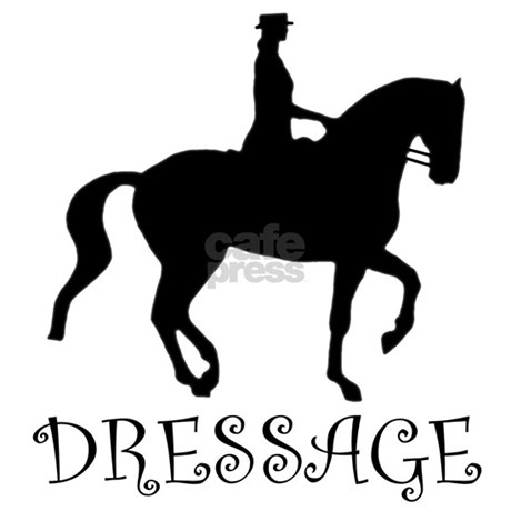 Horse silhouette dressage - photo#24