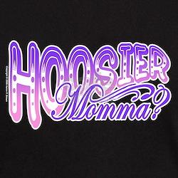 """""""Hoosier Momma"""" Black T-Shirt"""