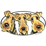 Airedale lover Aprons