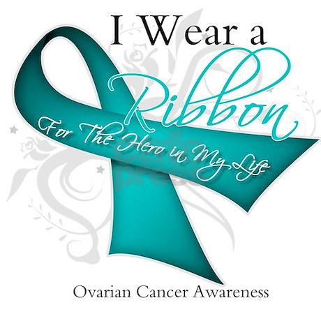 Teal Ribbon Ovarian Cancer Throw Blanket By Hopeanddreams