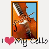 I Heart My Cello Shot Glass