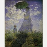 Claude Monet Woman w Parasol Shot Glass