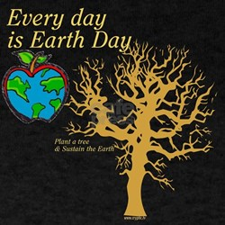 Every day is Earth Day Black T-Shirt