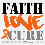 Faith Love Cure Leukemia Shot Glass