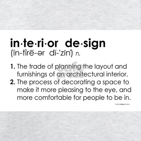 Interior Design Definition Ash Grey T Shirt By Culvercreative