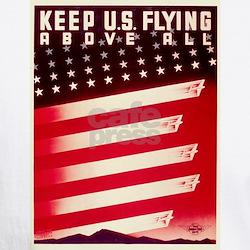 Keep U.S. Flying Above All White Tee
