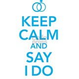 Keep Calm and Say I Do Rings Mug