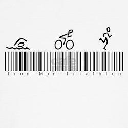 Bar Code Iron Man Triathlon T