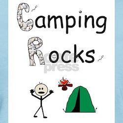 CAMPING ROCKS Women's Pink T-Shirt