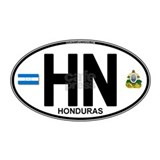 Honduras Euro Oval (HN) Water Bottle