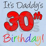 Daddys 30th Baby Bodysuits