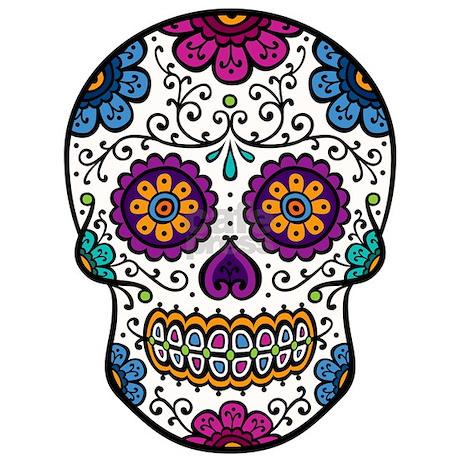 Sugar Skull Pint Glass by nskiny