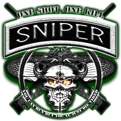 Sniper One Shot One Kill Throw Blanket By Veteranstshirts