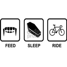 Feed, Sleep, Ride - Vampire Cyclist Large Mug