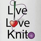 Live Love KNIT Pint Glass