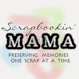 Scrapbookin' Mama Shot Glass