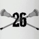 Lacrosse Number 26 Pint Glass