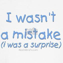 I wasn't a mistake (blue) T