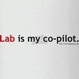 Lab is my Co-Pilot Drinking Glass