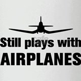 Still plays with Airplanes-Co Pint Glass