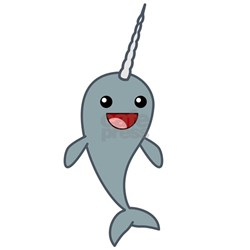 happy narwhal necklace jpg height 250 amp width 250 amp padToSquare trueNarwhals Cartoon
