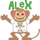 Little Monkey Alex Water Bottle