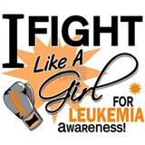 Fight Like a Girl Leukemia Water Bottle