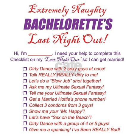 Bachelorette Party Checklist Pajamas By Younameitgifts