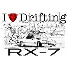 I Love drifting RX7 tshirt