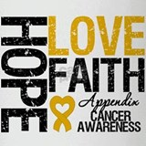 Appendix Cancer Faith Drinking Glass