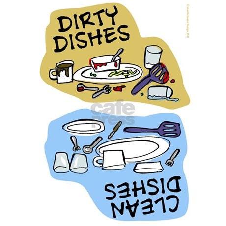 Clean Dishes/dirty Dishes Magnet Magnets by MegaShark