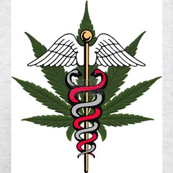 Medical Marijuana Caduceus Ash Grey T-Shirt