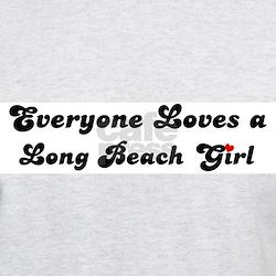 Loves Long Beach Girl Ash Grey T-Shirt