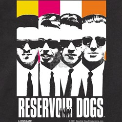 Reservoir Dogs DVD Cover Style Men's Fitted Tee