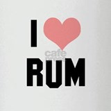 I heart Rum Drinking Glass