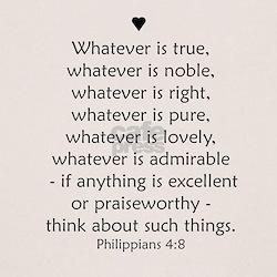 """Philipians 4:8"" Tee"