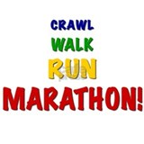 Crawl Walk Run Marathon Water Bottle